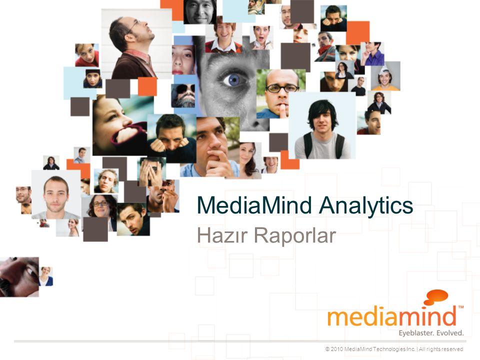 © 2010 MediaMind Technologies Inc.| All rights reserved © 2009 MediaMind.