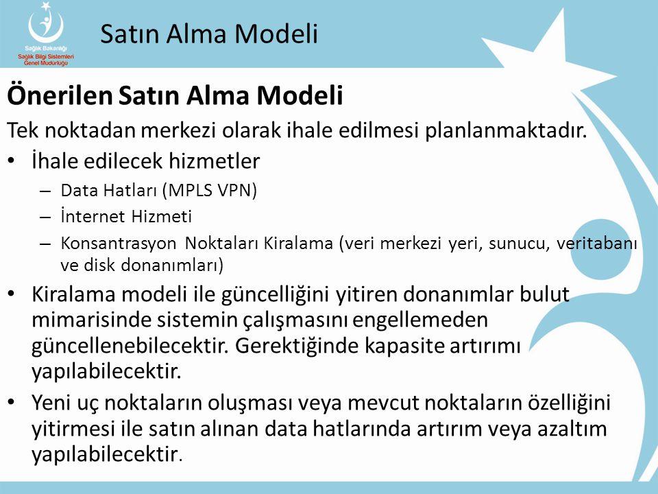 Satın Alma Modeli Önerilen Satın Alma Modeli Tek noktadan merkezi olarak ihale edilmesi planlanmaktadır.