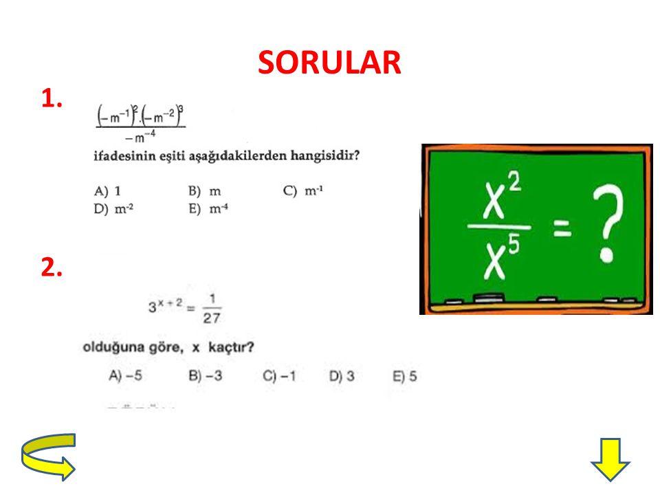 SORULAR 1. 2.