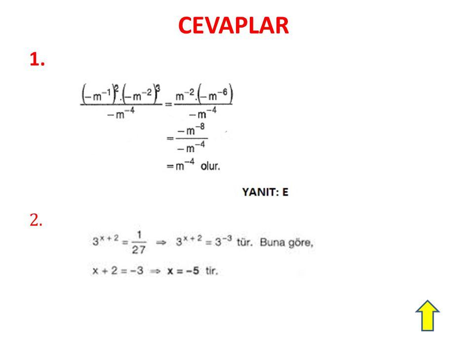 CEVAPLAR 1. 2.