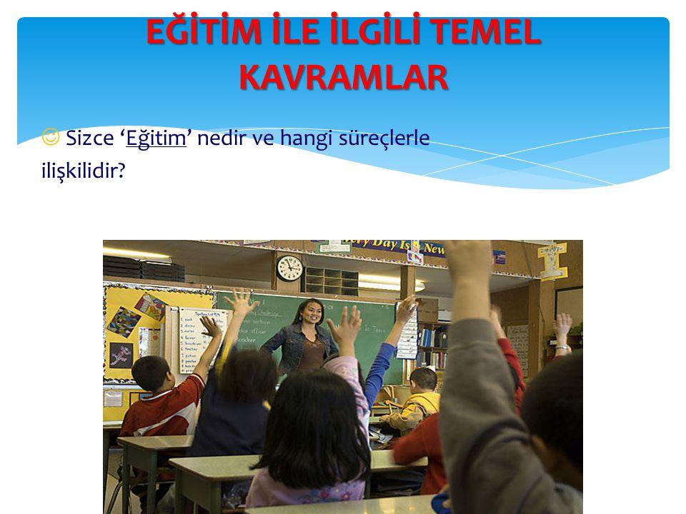 Eğitim ve Öğretim  (Amaç) Öğrenme Öğrenme bireyseldir.