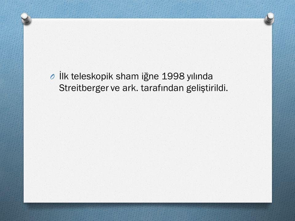 O İlk teleskopik sham iğne 1998 yılında Streitberger ve ark. tarafından geliştirildi.