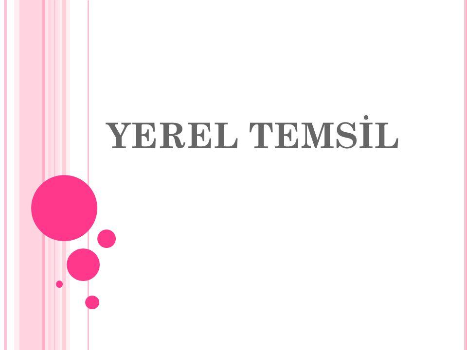 YEREL TEMSİL