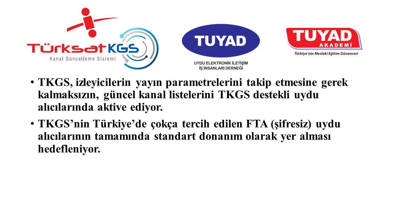 TKGS, izleyicilerin yayın parametrelerini takip etmesine gerek kalmaksızın, güncel kanal listelerini TKGS destekli uydu alıcılarında aktive ediyor. TK