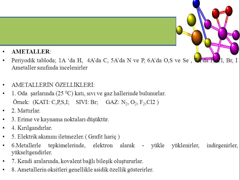 6.ÖZEL ADLANDIRMA: Bazı bileşikler özel olarak adlandırılır.