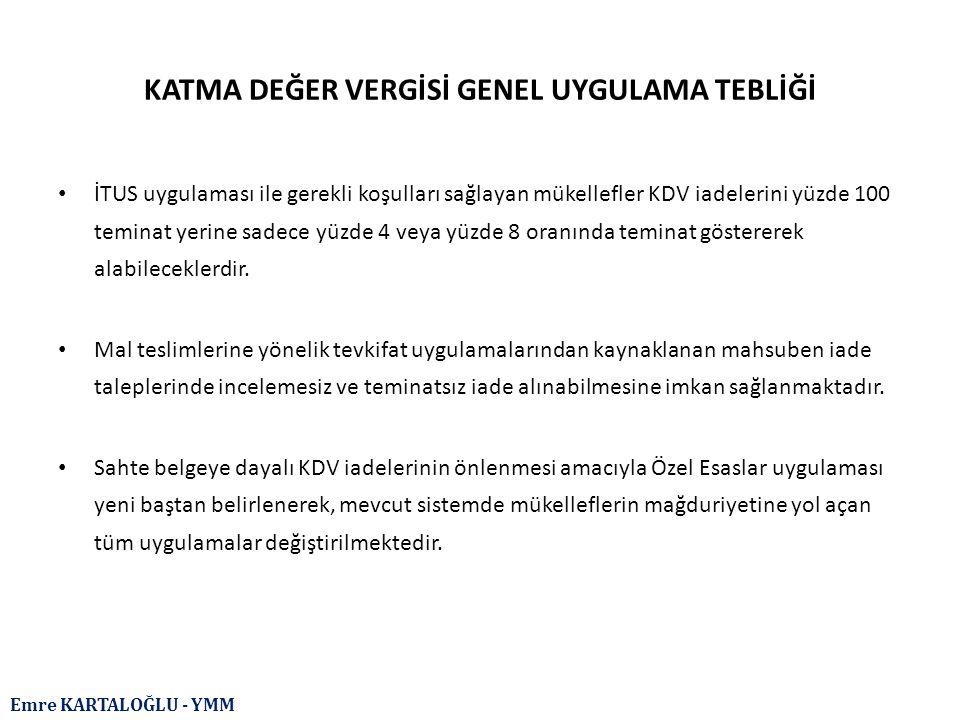 Emre KARTALOĞLU - YMM İSTİSNALAR (BSMV'ye Tabi İşlemler) Türkiye de banka ve sigorta muameleleri vergisine tabi tutulmamış olan yurt dışı kredi işlemlerinin mahiyet itibarıyla banka ve sigorta muameleleri vergisine tabi olan yurt içi bankacılık hizmetlerinden farksız olduğu açıktır.