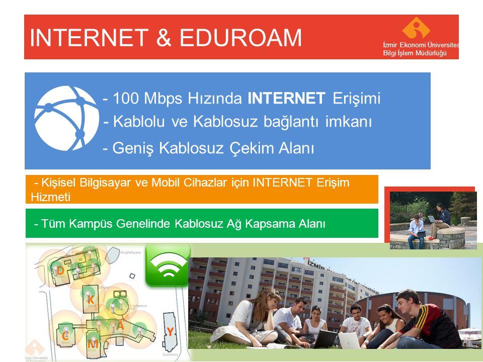 Your company name Your Logo INTERNET & EDUROAM İzmir Ekonomi Üniversitesi Bilgi İşlem Müdürlüğü - 100 Mbps Hızında INTERNET Erişimi - Kişisel Bilgisay