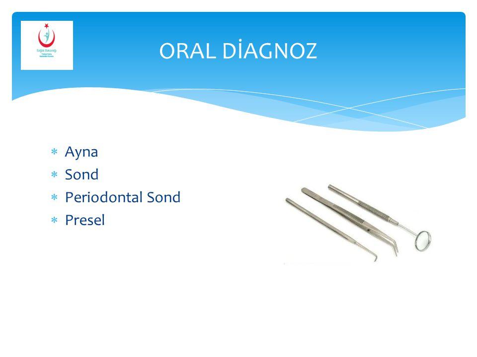  Periodontal veya cerrahi küretler  Sond  Kemik Keskileri  Cerrahi Frezler  Kanal Eğeleri  Davye ve Elevatörler 1.KRİTİK ALETLER