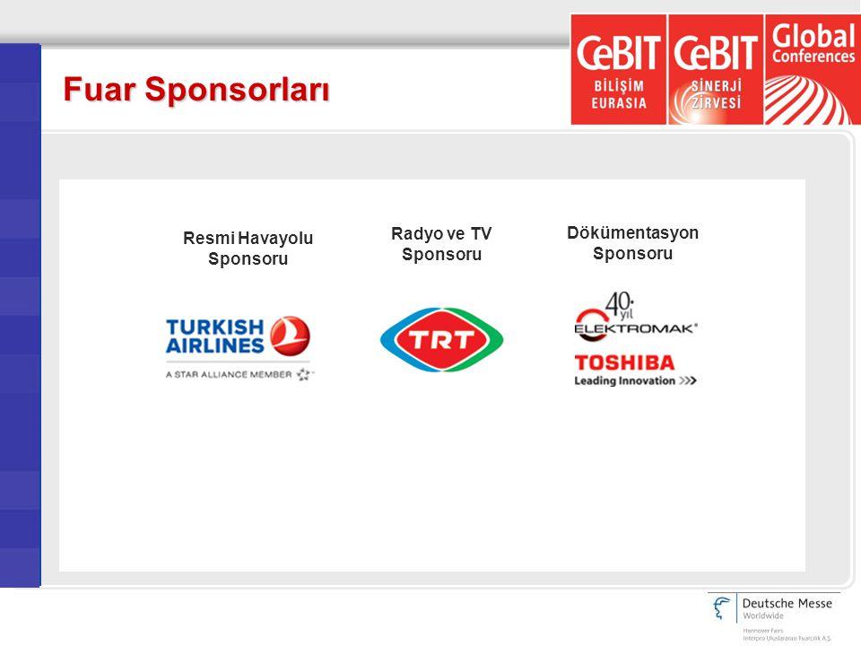 Fuar Sponsorları Resmi Havayolu Sponsoru Radyo ve TV Sponsoru Dökümentasyon Sponsoru