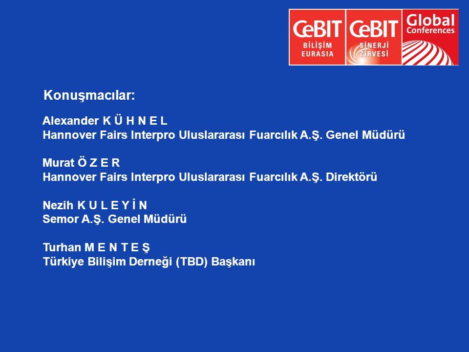 Alexander K Ü H N E L Hannover Fairs Interpro Uluslararası Fuarcılık A.Ş. Genel Müdürü Murat Ö Z E R Hannover Fairs Interpro Uluslararası Fuarcılık A.