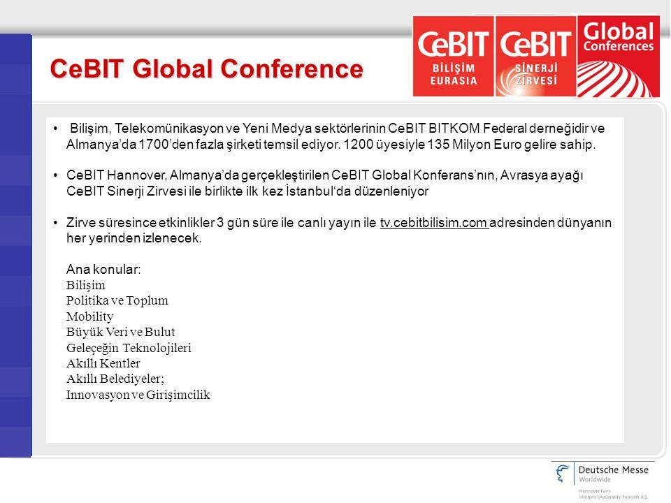Bilişim, Telekomünikasyon ve Yeni Medya sektörlerinin CeBIT BITKOM Federal derneğidir ve Almanya'da 1700'den fazla şirketi temsil ediyor.