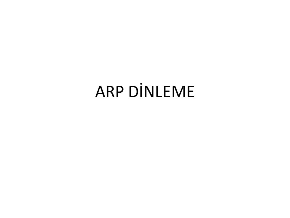 ARP DİNLEME