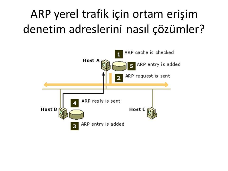 ARP yerel trafik için ortam erişim denetim adreslerini nasıl çözümler?
