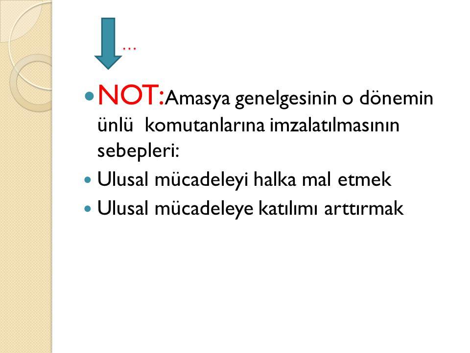 AMACI: Sivas'ta milli bir kongre toplanmasını sa ğ lamak ve tüm milli cemiyetleri tek çatı altında birleştirmektir.