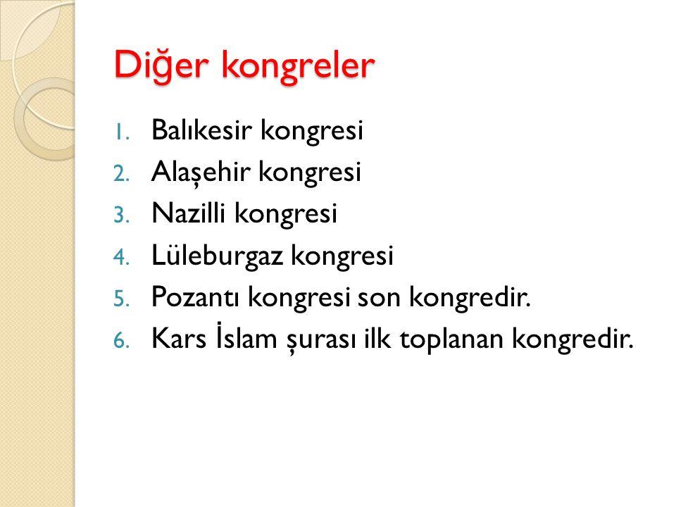 Önemi ve sonuçları Milli bir kongredir.M. Kemal Paşa ulusal lider oldu.