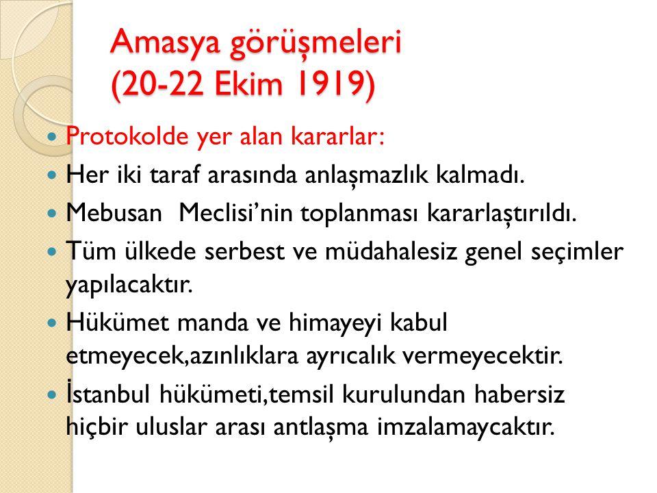 Ortak özellikleri Yöresel kongrelerdir. Saltanata ba ğ lı kaldılar. Batı Anadolu'daki yunan işgallerine karşı çıktılar. Batı Anadolu illeri adına yetk