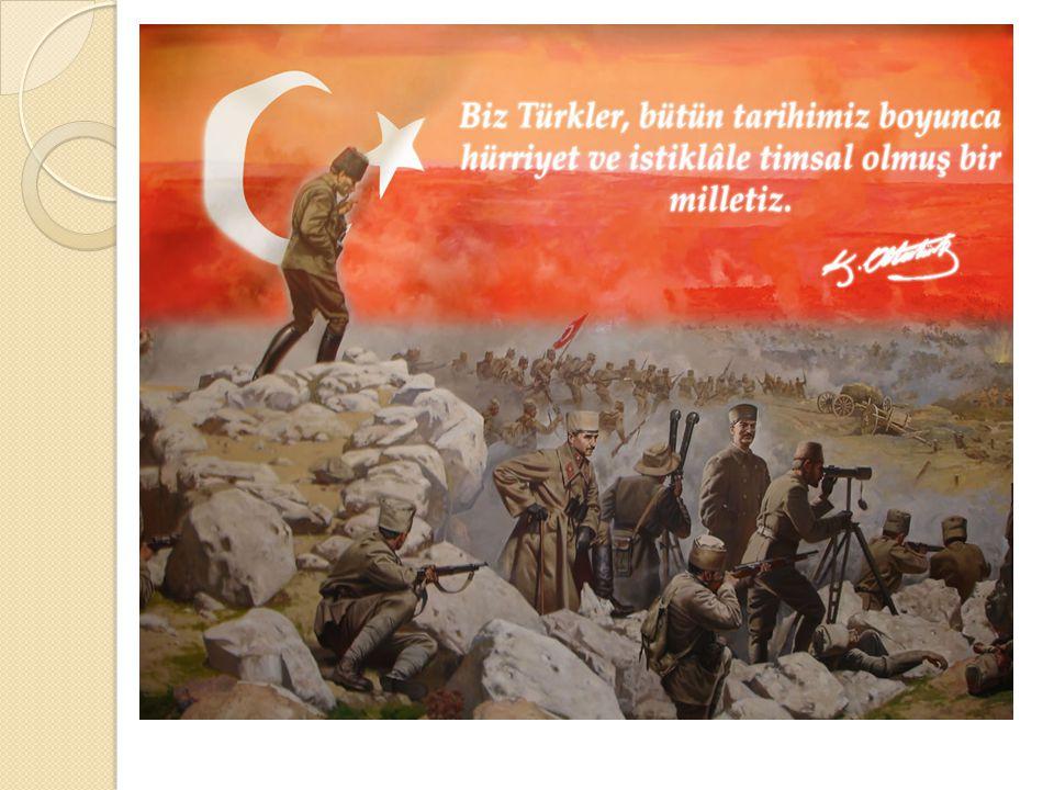 KURTULUŞ SAVAŞI Mustafa Kemal'in Samsun'a çıkması:Mondros Mütakeresi 'nden sonra Yıldırım Orduları Grubu Komutanlı ğ ı'nın kaldırılması üzerine İ stan