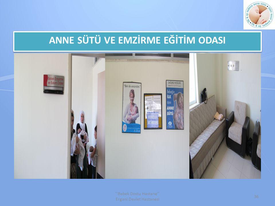 ANNE SÜTÜ VE EMZİRME EĞİTİM ODASI 36 Bebek Dostu Hastane Ergani Devlet Hastanesi