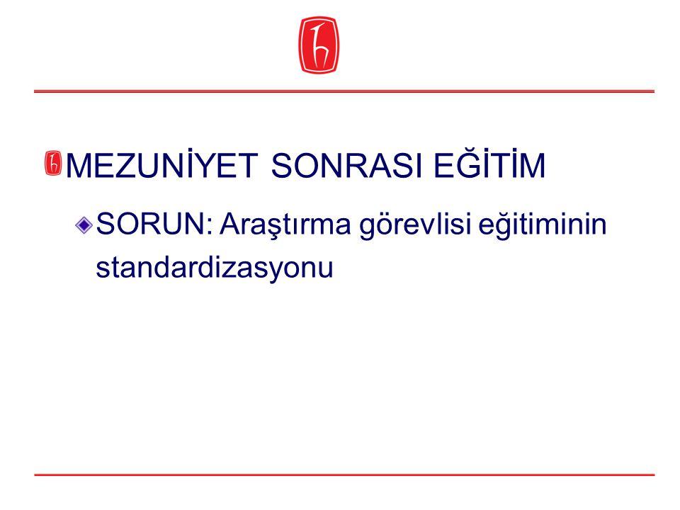 SORUN: Araştırma görevlisi eğitiminin standardizasyonu