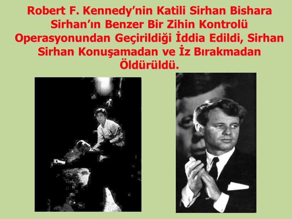 Robert F. Kennedy'nin Katili Sirhan Bishara Sirhan'ın Benzer Bir Zihin Kontrolü Operasyonundan Geçirildiği İddia Edildi, Sirhan Sirhan Konuşamadan ve