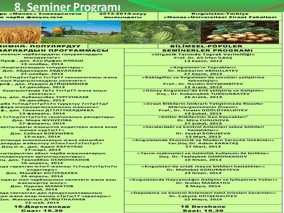 8. Seminer Programı 43