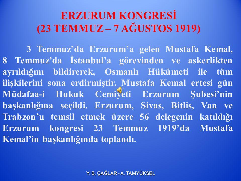 HAVZA MİTİNGİ (30 MAYIS 1919) Mustafa Kemal askeri örgütlenmeyi sağlamak için Havza'dan Anadolu'daki tüm komutanlarla temasa geçmiştir. Komutanlara ve