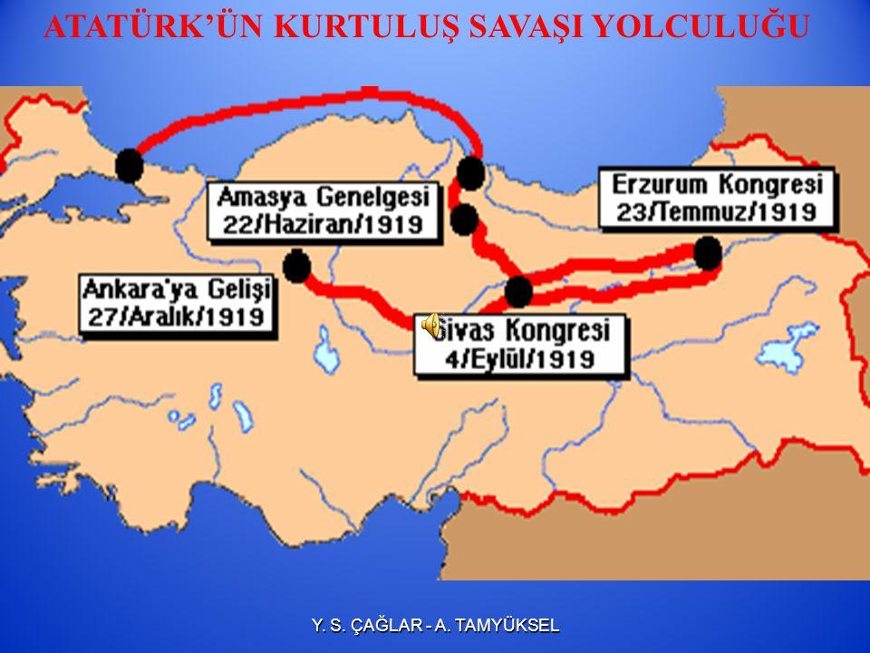 HEYET-İ TEMSİLİYE'NİN ANKARA' YA GELİŞİ (27 ARALIK 1919) 27 Aralık 1919'da Ankara'ya gelen Mustafa Kemal burasını Anadolu'daki direniş hareketinin mer