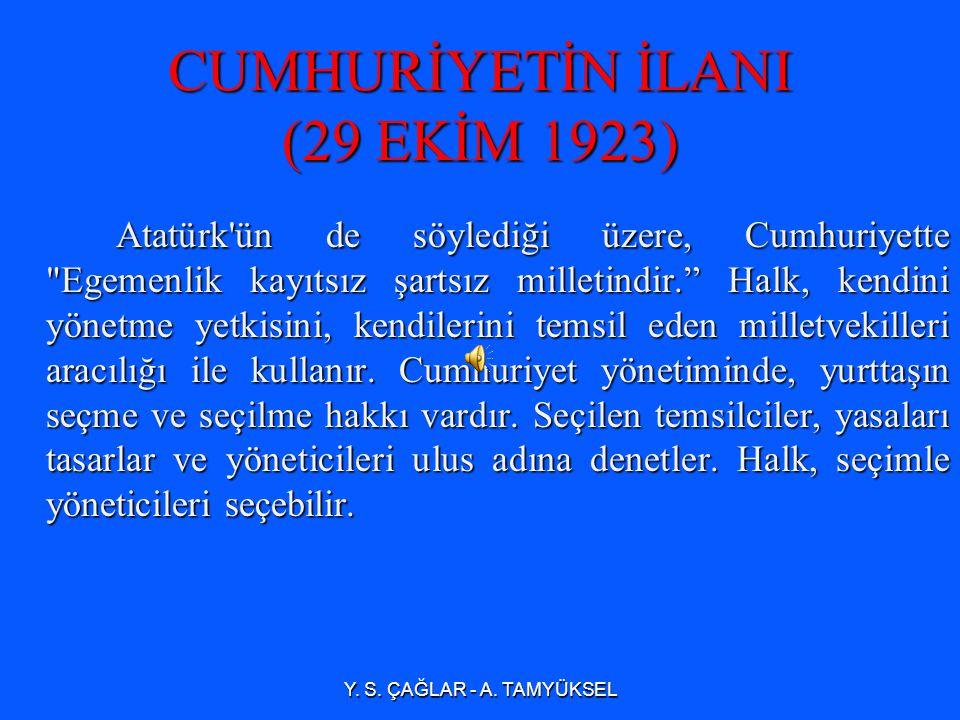 29 Ekim 1923 günü Atatürk, milletvekilleri ile görüştükten sonra taslağı hazırlanan Cumhuriyet önergesini Türkiye Büyük Millet Meclisi ne verdi.