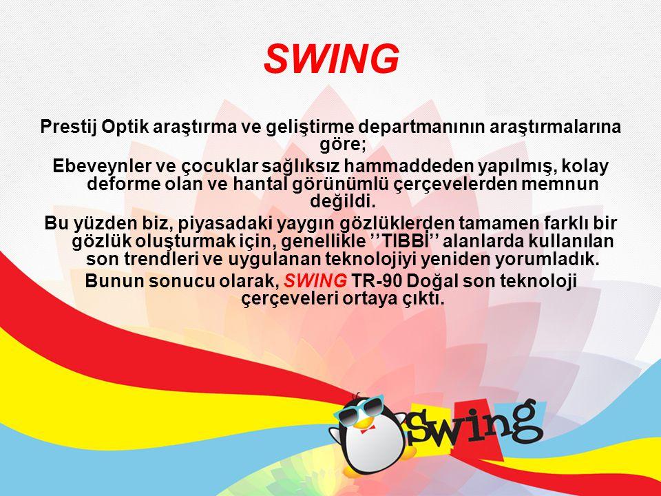 SWING Prestij Optik araştırma ve geliştirme departmanının araştırmalarına göre; Ebeveynler ve çocuklar sağlıksız hammaddeden yapılmış, kolay deforme o