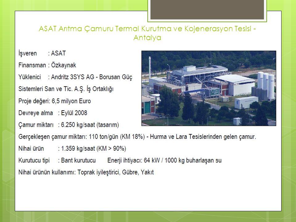 ASAT Arıtma Çamuru Termal Kurutma ve Kojenerasyon Tesisi - Antalya