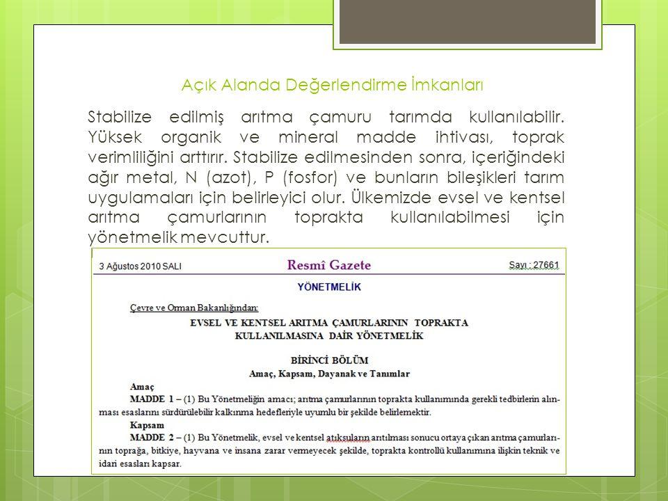 Örnek Uygulamalar  42 Evler Atık Su Arıtma Tesisi Biyogaz Eldesi – Kocaeli  Çamur Çürütme ve Susuzlaştırma Tesisi İnşaatı ve İşletilmesi Projesi - İzmir  Arıtma Çamuru Termal Kurutma ve Yakma Tesisi Yapımı – Gaziantep  ASAT Arıtma Çamuru Termal Kurutma ve Kojenerasyon Tesisi - Antalya