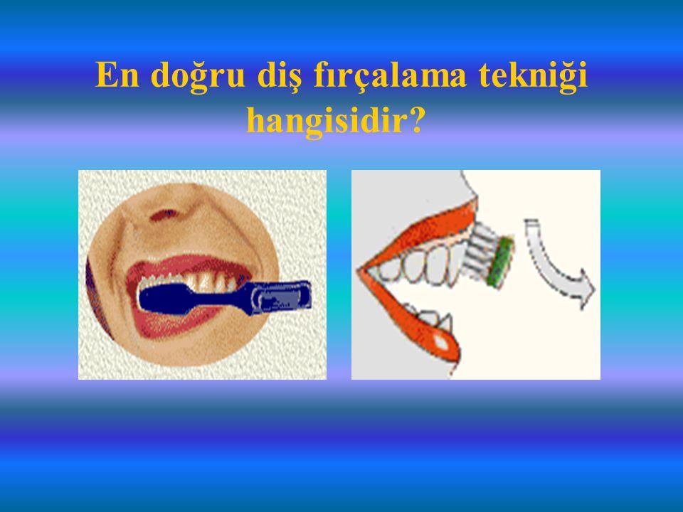 En doğru diş fırçalama tekniği hangisidir
