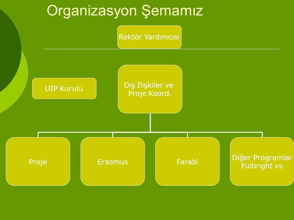 Organizasyon Şemamız Dış İlişkiler ve Proje Koord.