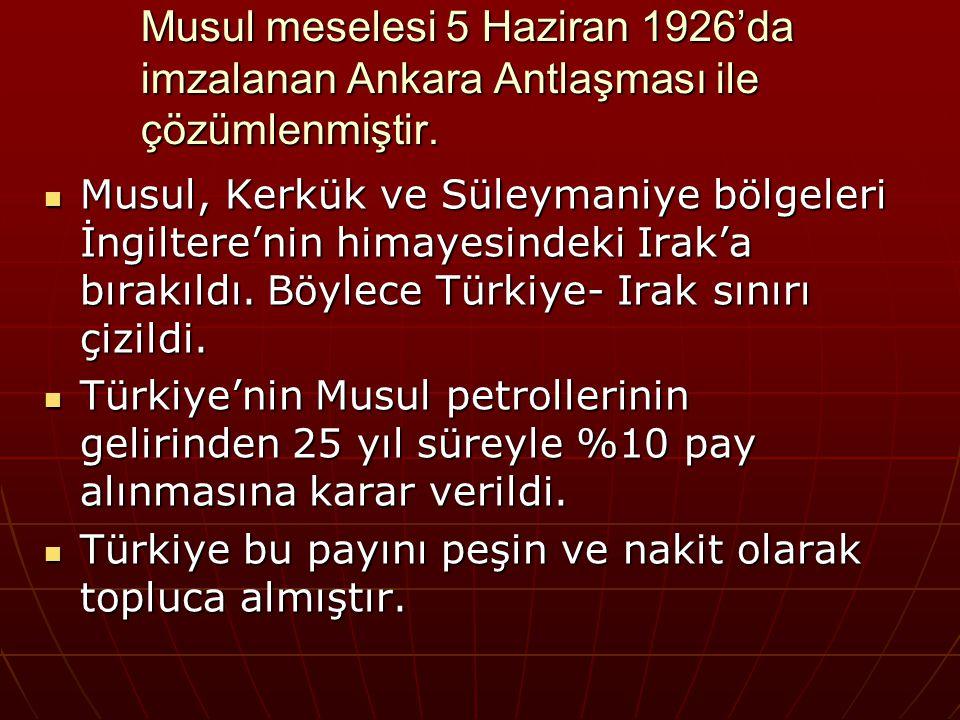 2- Boğazlar Sorunu ve Montrö Boğazlar Sözleşmesi Lozan Barış Antlaşması'na göre boğazların yönetimi başkanlığını Türkiye'nin yaptığı bir komisyona bırakılmıştı.