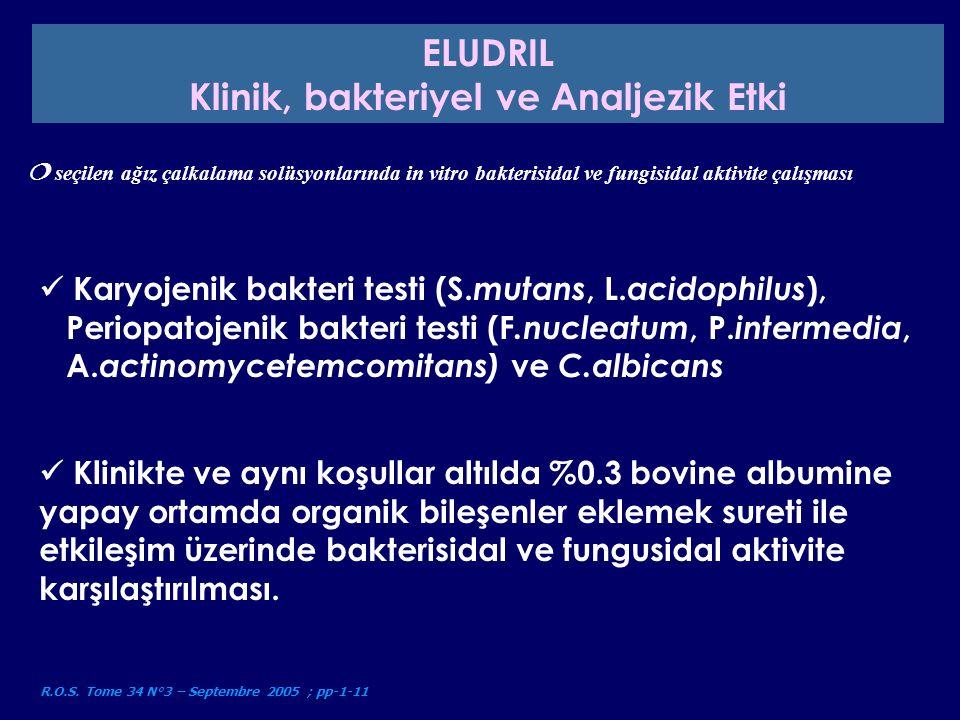 Malzeme ve metodlar - hidroksi-apatit kapsülünün kullanılmasıyla (mineral kompozisyon ve yakından mine desteklenmesi ),Test sonuçlarıyla bağlantı kurmak - 2, 4 ve 6 saatlerde ıslatılması ile yapay tedavi - 2, 4 ve 6 ay günlük kullanıma eşdeğer çeşitli gargaraların in vitro fluoridasyon potansiyelinin değerlendirilmesi