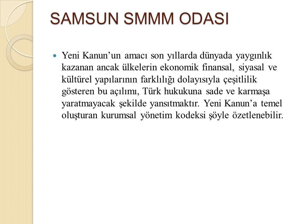 SAMSUN SMMM ODASI Yatırım Amaçlı Gayrimenkuller Gerçeğe uygun değeri belirlenebilir olmalı Kiralama veya değer artışından kâr elde etmek amacıyla alınmış olmalı İşletme mal ve hizmet üretiminde veya idari amaçlar ile kullanmıyor olmalı