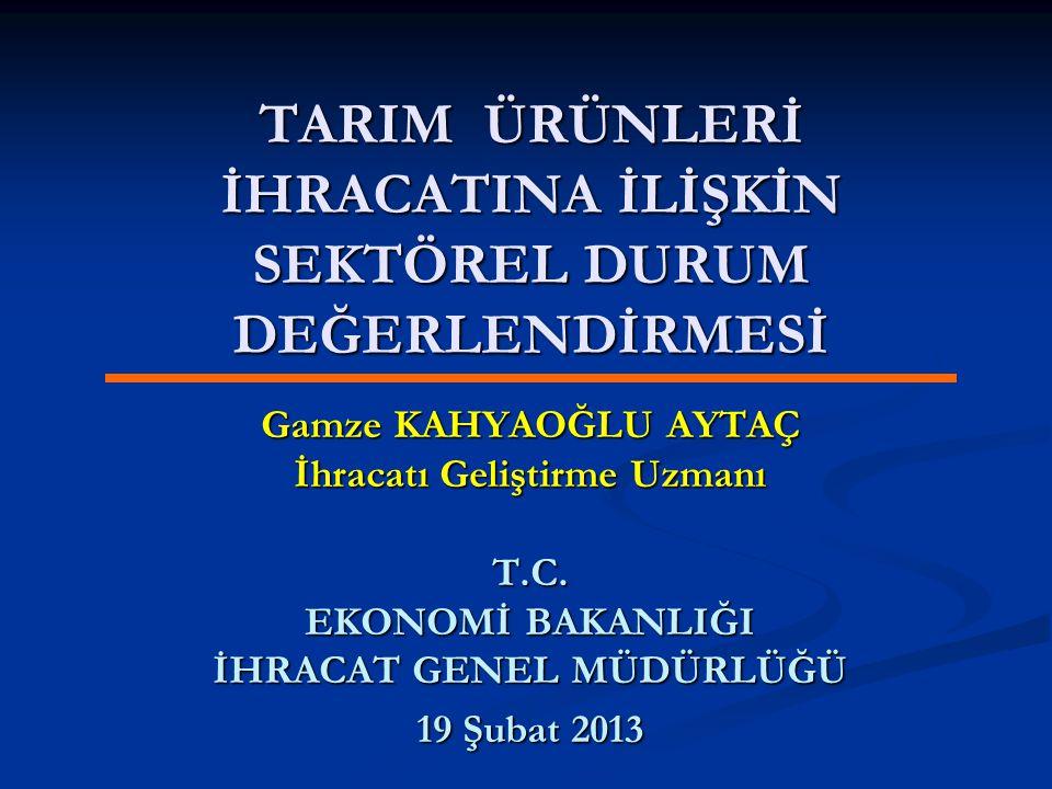 İÇİNDEKİLER Dünya Tarım Piyasaları Dünya Tarım Piyasaları Türkiye Ekonomisi ve Tarım Türkiye Ekonomisi ve Tarım Tarım Ürünleri İhracatımız Tarım Ürünleri İhracatımız