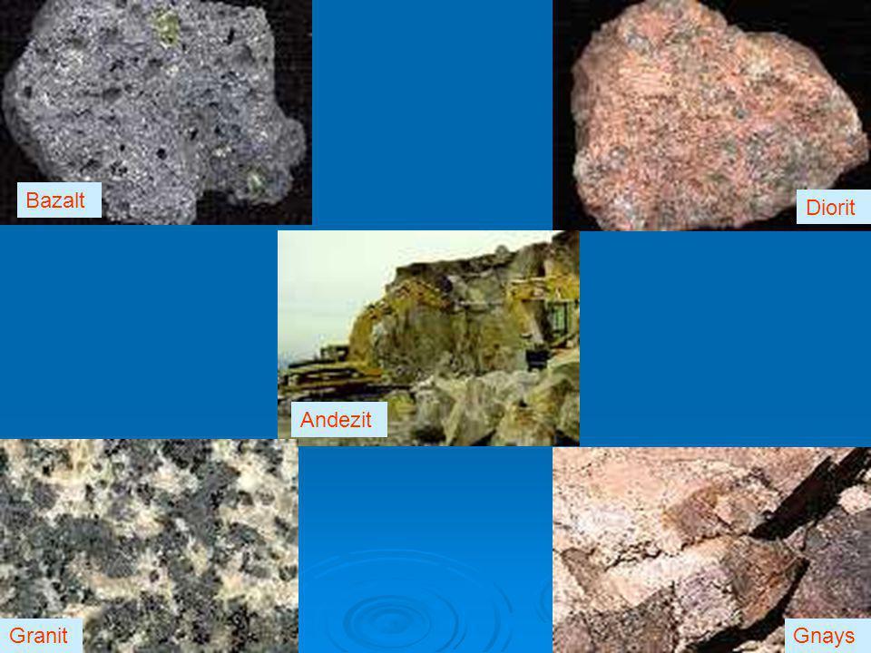 Bazalt Diorit Andezit GranitGnays