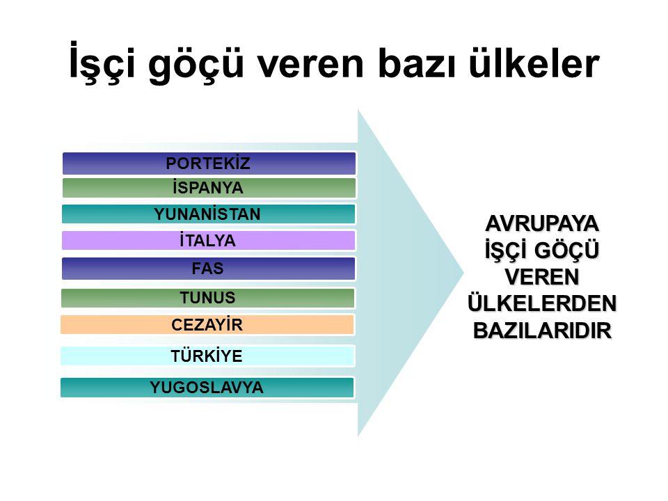Türkiye'de işçi göçünün zaman içinde hızla arttığı görülmektedir. Bunun başlıca nedenleri; Sebepleri 1 Hızlı Nüfus Artışı 2 Kırsal alanda isteklerin ç