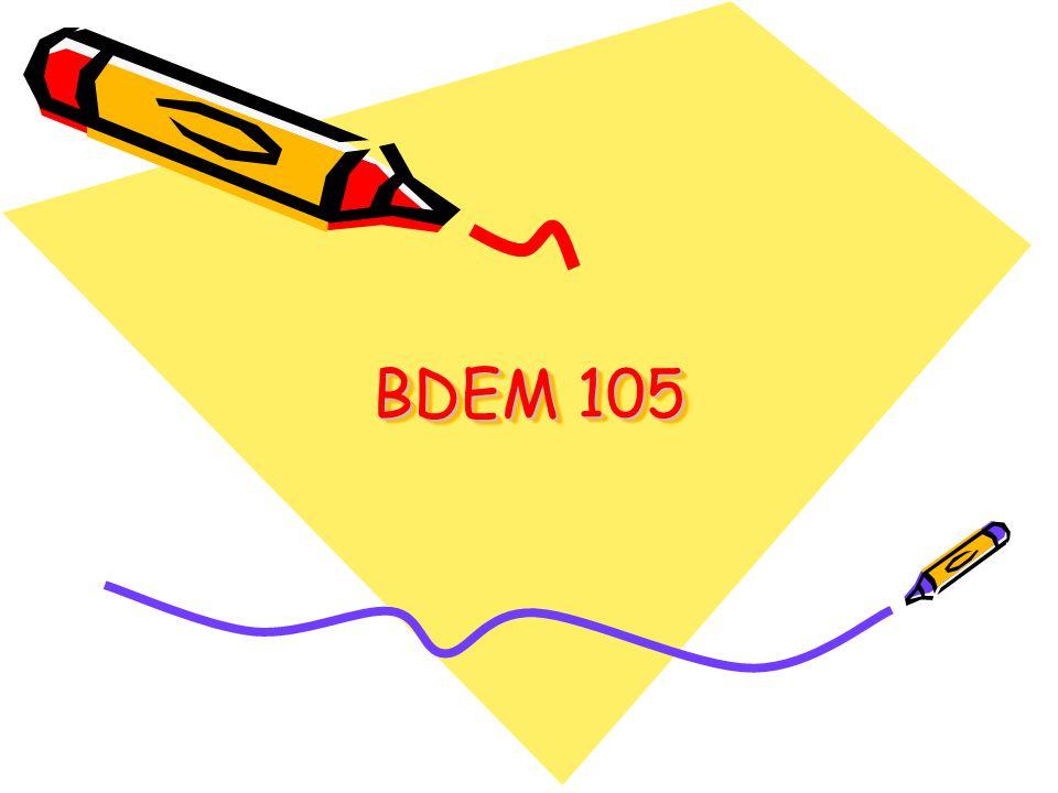 BDEM 105