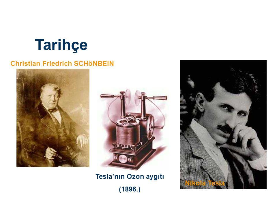 Tarihçe Christian Friedrich SCHöNBEIN Nikola Tesla Tesla'nın Ozon aygıtı (1896.)