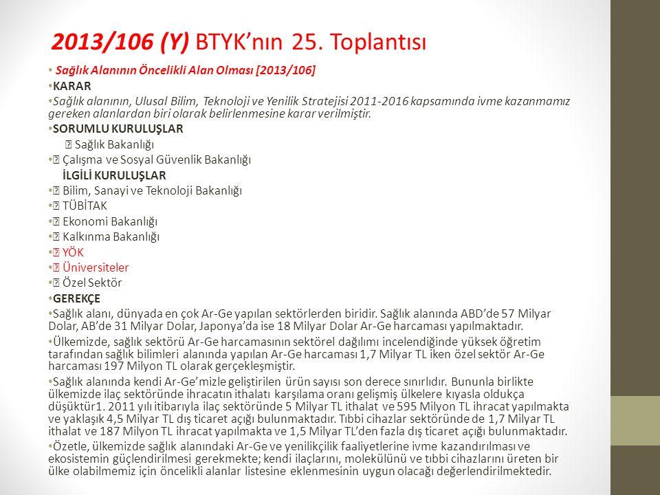 2013/106 (Y) BTYK'nın 25.