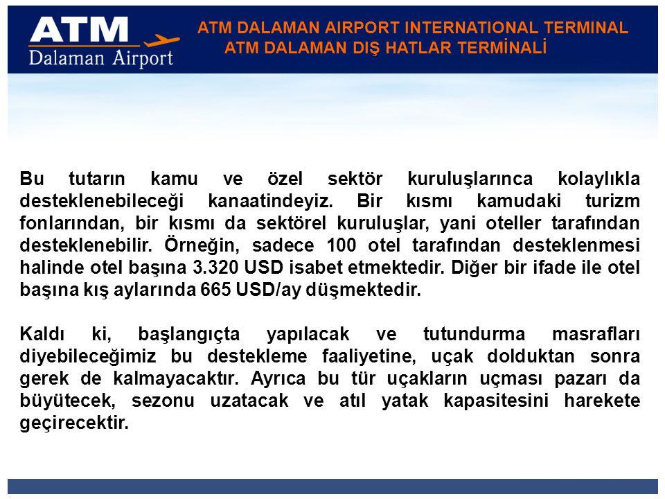 ATM DALAMAN AIRPORT INTERNATIONAL TERMINAL ATM DALAMAN DIŞ HATLAR TERMİNALİ Bu tutarın kamu ve özel sektör kuruluşlarınca kolaylıkla desteklenebileceği kanaatindeyiz.