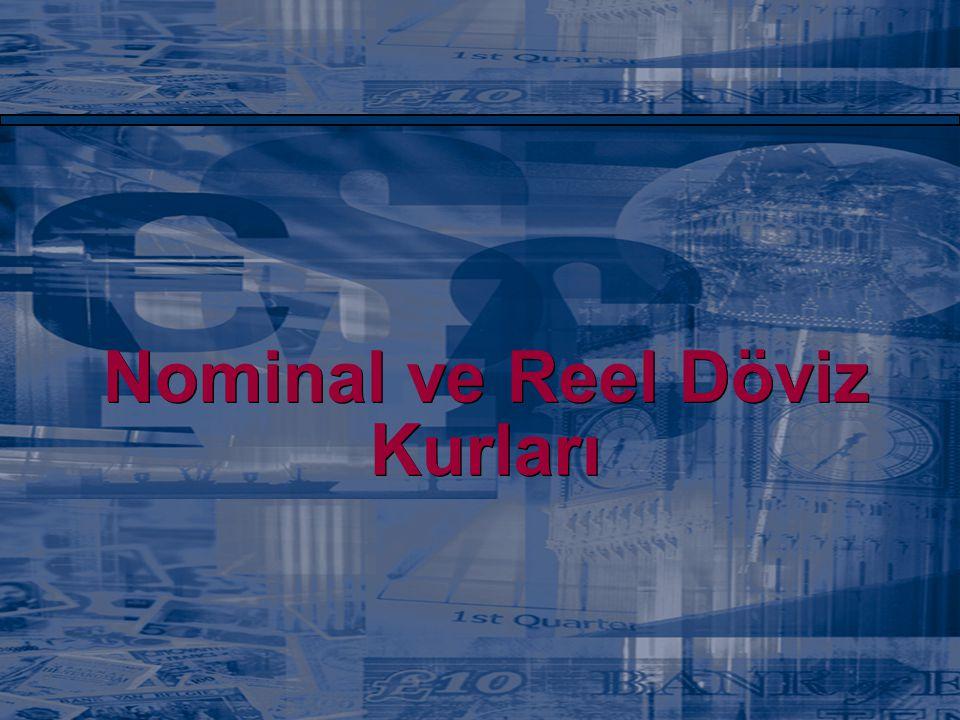 Nominal ve Reel Döviz Kurları