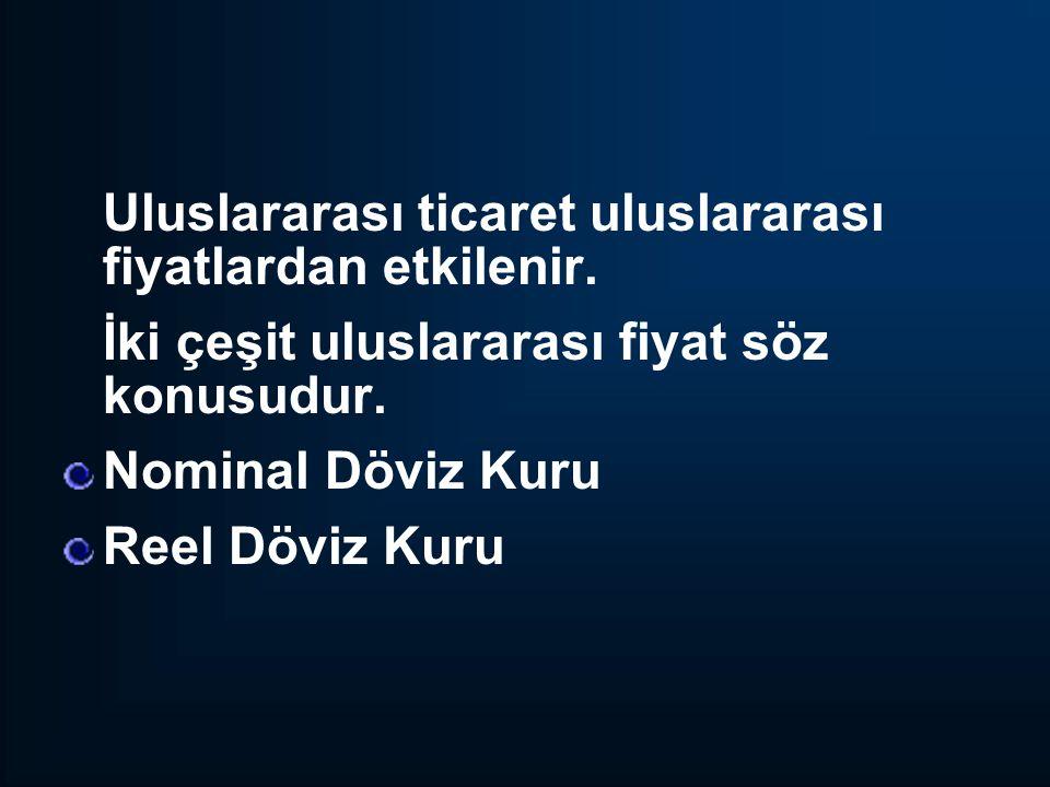 Türkiye'de Nominal Döviz Kurunda Meydana Gelen Gelişmeler