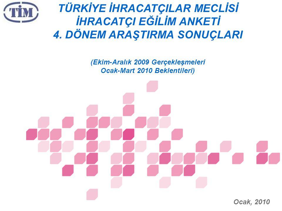 TÜRKİYE İHRACATÇILAR MECLİSİ İHRACATÇI EĞİLİM ANKETİ 4.