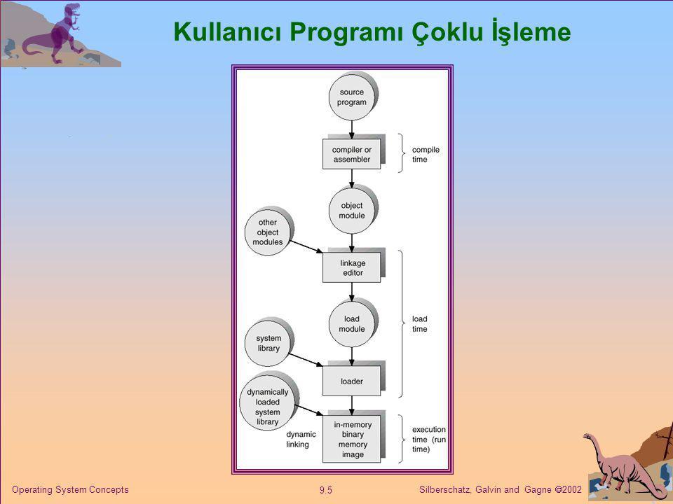 Silberschatz, Galvin and Gagne  2002 9.5 Operating System Concepts Kullanıcı Programı Çoklu İşleme
