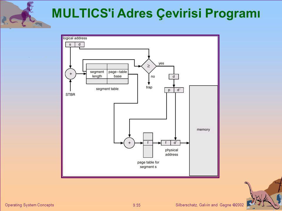 Silberschatz, Galvin and Gagne  2002 9.55 Operating System Concepts MULTICS'i Adres Çevirisi Programı