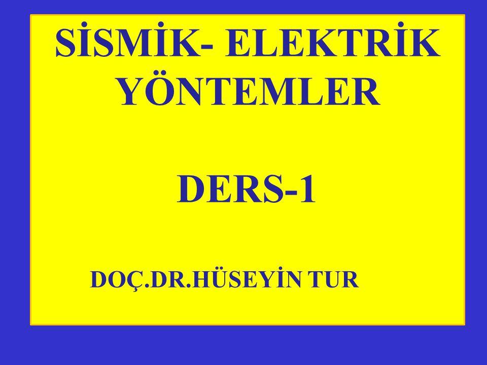 SİSMİK- ELEKTRİK YÖNTEMLER DERS-1 DOÇ.DR.HÜSEYİN TUR