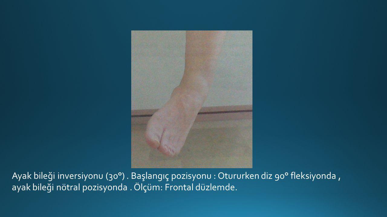 Ayak bileği inversiyonu (30°).